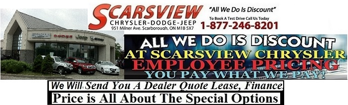 Scarsview Chrysler new car deals Toronto